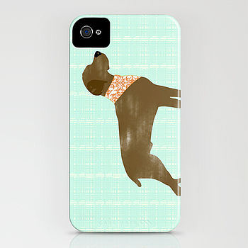 Brown Weimaraner Dog On iPhone Case