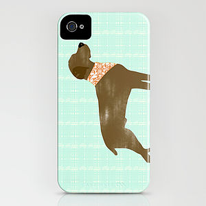 Brown Weimaraner Dog On iPhone Case - bags & purses