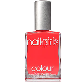 Bright Tangerine Nail Polish