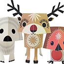 Christmas Creatures Paper Animals Kit