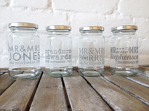 Personalised Wedding Favour Jam Jar - wedding favours