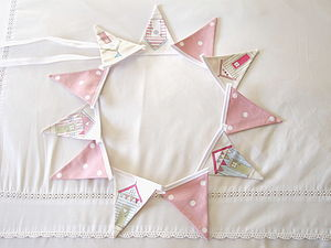 Beach Huts Mini Bunting - bunting & garlands