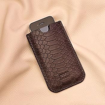 Leather Anthracite Phone Case