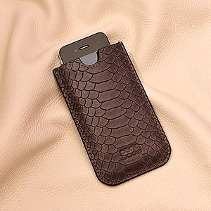 Leather Anthracite Phone Case - phone & tablet covers & cases