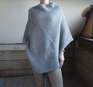 Cable Stitch Poncho - women's fashion
