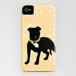 Staffordshire Bull Terrier On iPhone Case