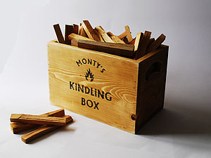 Vintage Kindling Storage Crate - fireplace accessories