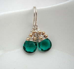 Apatite Quartz Drop Earrings - earrings