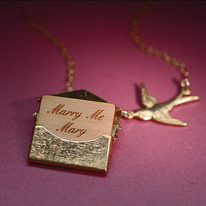 Personalised Mini Love Letter Necklace - christmas delivery gifts for her