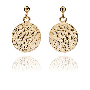 Ancient Coin Charm Earrings