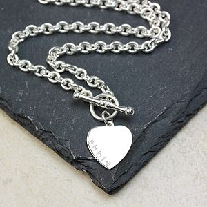 Personalised Sterling Silver Toggle Necklace - necklaces & pendants