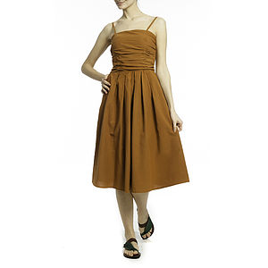 Ruched Spaghetti Dress - dresses