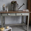 A French Gray Painted Kitchen Table
