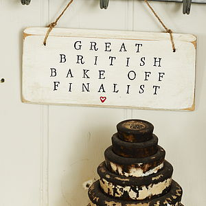 'Great British Bake Off' Sign - living room