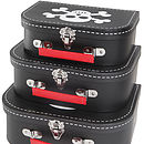 Set Of Three Pirate Suitcases
