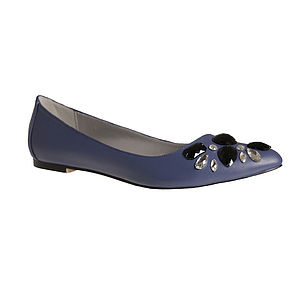 Women's Large Sized Crystal Flat Shoe 50% Off - shoes