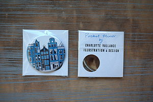 Amsterdam Row Of Houses Pocket Mirror - compact mirrors