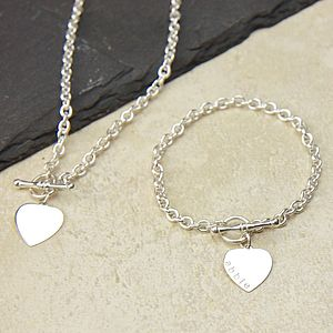Personalised Sterling Silver Jewellery Set - women's jewellery