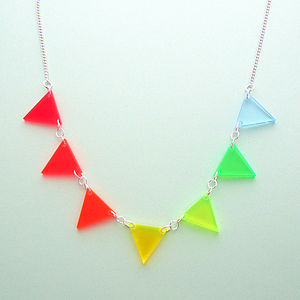 Neon Triangles Necklace