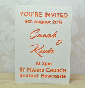 Laser Cut You're Invited Wedding Invitation - wedding stationery