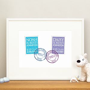 Personalised New Baby Gift Twins Print - shop by recipient