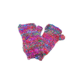 Handmade Recycled Silk Fingerless Gloves - gloves