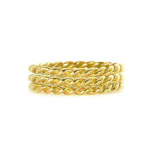 Yellow Gold Lace Triple Ring