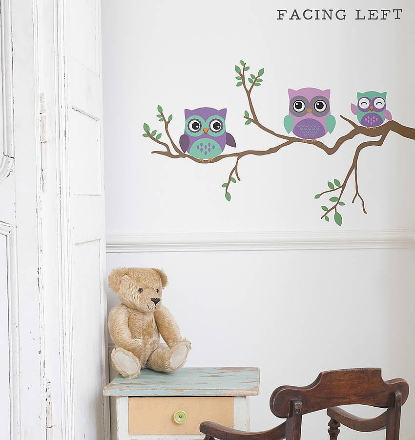 Children S Wall Sticker Owl By Oakdene Designs