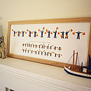 Personalised Naval Semaphore Flags Name Print