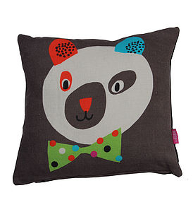 Circus Bear Cushion - soft furnishings & accessories