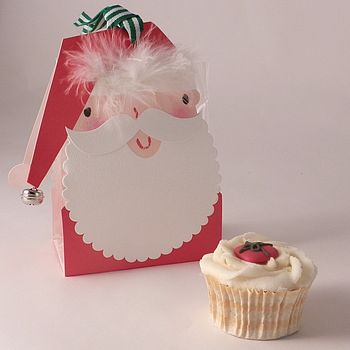 Father Christmas Cupcake Boxes: Pack Of Three