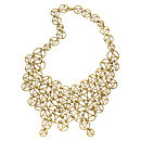 Yellow Gold Large Lace Necklace