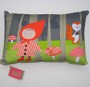 Little Red Riding Hood Cushion - soft furnishings & accessories
