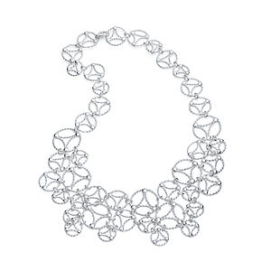 Silver Lace Necklace - women's jewellery