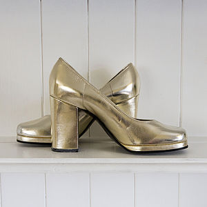 Collectable 1970's St Michael Platform Shoes - women's fashion