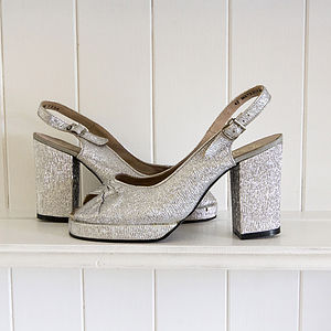 1970's Vintage Slingback Disco Shoes - brand new sellers