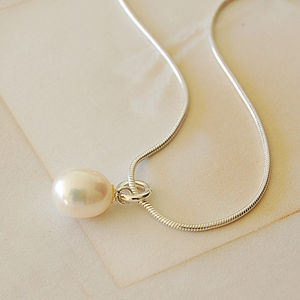 Ivory Pearl Drop Necklace - women's jewellery