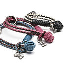 Comet Braided Leather Dog Collar