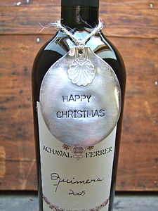 'Happy Christmas' Vintage Spoon Tag