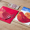 10 Folding Bird Christmas Cards