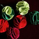 Christmas Decorations Flower Set Of Six Jewel