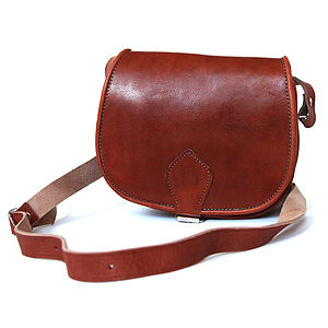 Moroccan Leather Saddle Bag - handbags