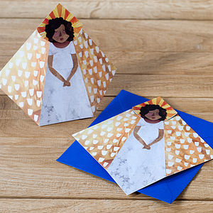 10 Folding Angel Christmas Cards