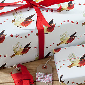 Christmas Robin Wrapping Paper