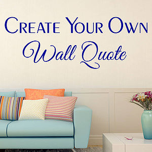Personalised Wall Sticker - wall stickers