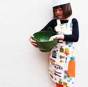 Childrens Customised Retro Apron - aprons