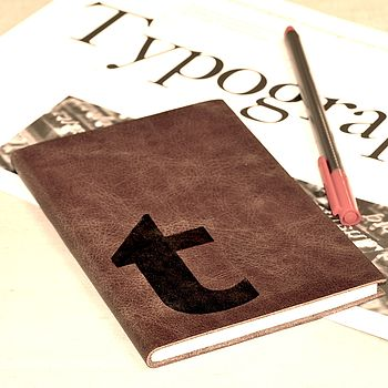 Monogrammed Leather Notebook