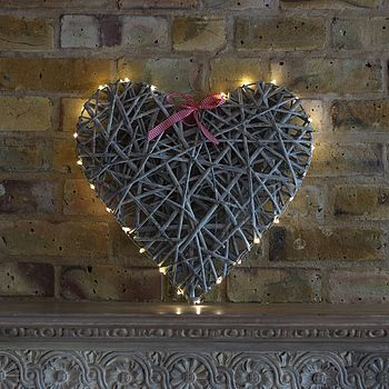 Hanging Willow Heart With LED Lights