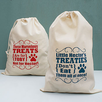 Personalised Pet Treat Storage Bag