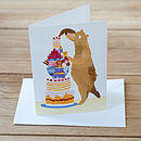 Baking Bear Greetings Card